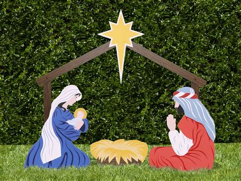 the holy family outdoor nativity store