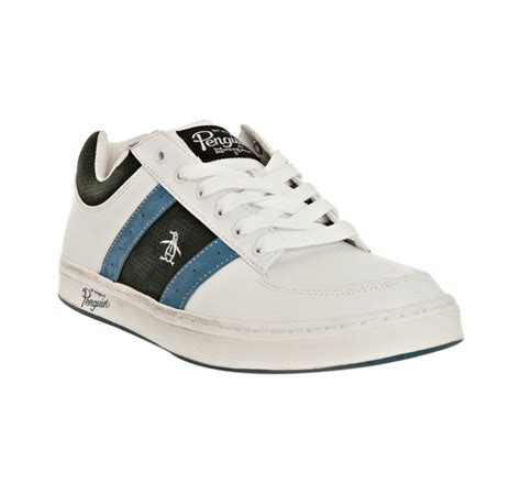 penguin sneakers original penguin white and midnight leather jingle