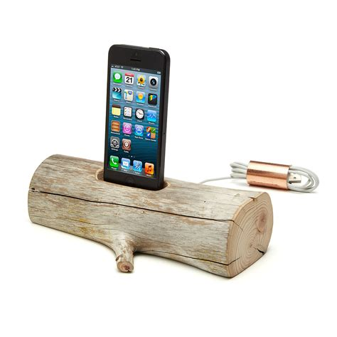 phone charging stand driftwood iphone charging dock apple ipod phone stand