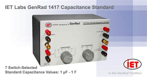 typical capacitor resistance genrad 1417 capacitance standard decade capacitors ac dc measuring instruments amtest