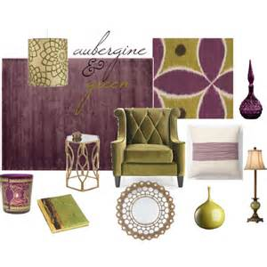 Aubergine Accessories For Living Room With A Background Of A Pale Smokey Gray Walls Imagine The Richness Of Aubergine And Green In