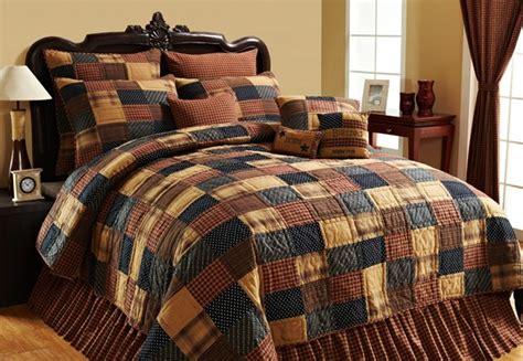 primitive comforter sets patriotic patch cabin primitive rustic 4pc cal king queen