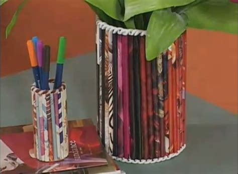 rolled magazine paper crafts crafts using rolled up magazines arts to crafts