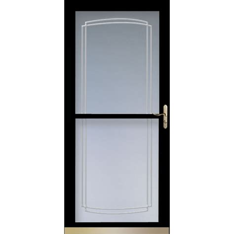 Larson Screen Doors by Shop Larson Tradewinds Black View Tempered Glass