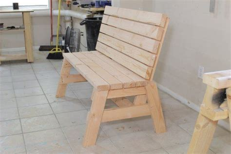 build  comfortable  bench  side table