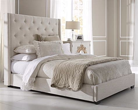 upholstered bed frame and headboard modern queen size bed frame upholstered wingback button