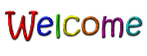 welcome images welcome multicolour text transparent image free png images