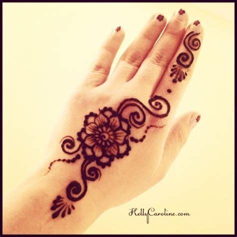 henna hand tattoos tumblr easy henna by caroline flower henna for the