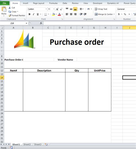 Dynamics AX Tips: Export Purchase Order Data to MS Excel