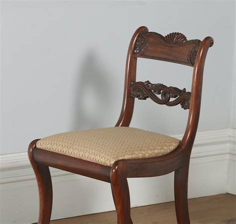 Dining Chair Sets Of 4 Regency Set Of Four Mahogany Dining Chairs Antiques Atlas