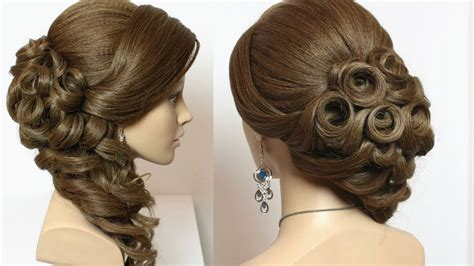 bridal hairstyle with curls for hair tutorial - Hairstyles For With Hair