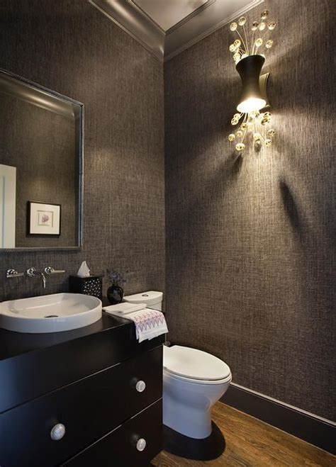 Amazing Bath Bar Light Fixture #4: Contemporary-powder-room.jpg