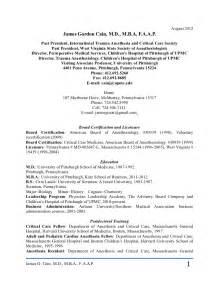 curriculum vitae curriculum vitae anesthesiology