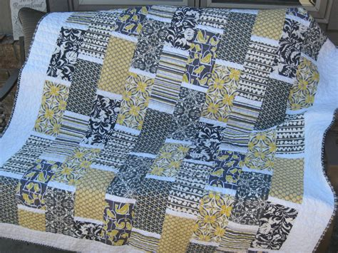 black white and yellow quilt pattern yellow and gray brick quilt material girl quilts