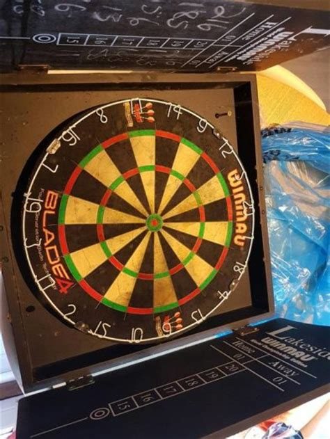winmau dartboard in cabinet winmau blade 4 dartboard and cabinet for sale in