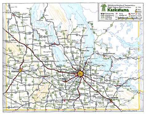 road map canada kaskatama fictional canadian province road map by