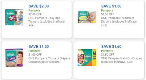 easy printable diaper coupons pers coupons save up to 2 off pers diapers