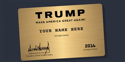 make a membership card donald caign offers supporters gold membership