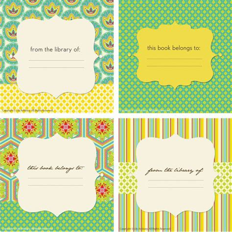 book labels template 14 best images about bookplate labels book label