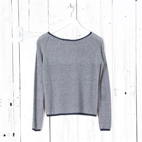 Stripe Sleeve Knit Top ottod ame stripe sleeve knit top collen clare
