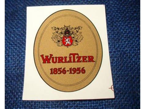 Beschriftung Jukebox by Aufkleber Wurlitzer Wurlitzer Usa Ersatzteile Decor
