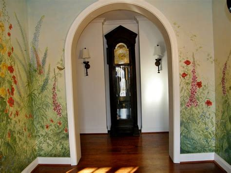 foyer mural front door greeting as a guest enters the foyer murals