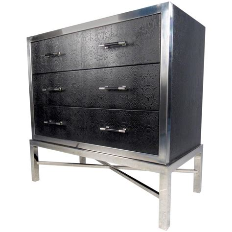 Modern Chest Drawers by Modern Chrome And Faux Snakeskin Chest Of