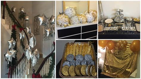 DOLLAR TREE DIY   SILVER & GOLD THEME BIRTHDAY PARTY DECOR