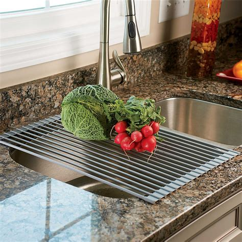 Sink Drying Rack by The Sink Roll Up Drying Rack Colander The Green
