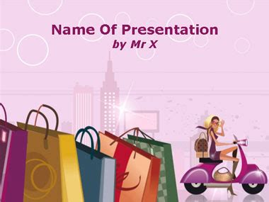 Powerpoint Presentation Templates Fashion Shopping Girl Shopping Ppt Templates Free
