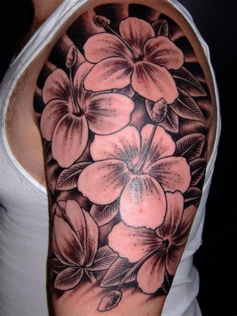 half sleeve flower tattoos for men 25 black and white flower tattoos