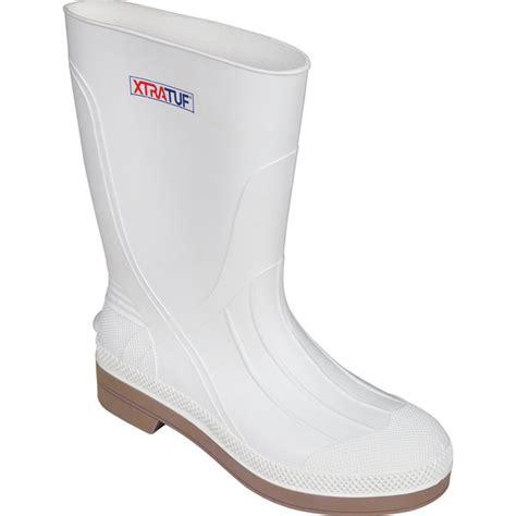 mens white rubber boots xtratuf s shrimp boots west marine