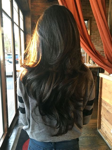 cutting thinning hair interior layers best long thin hair ideas on pinterest excellent layers