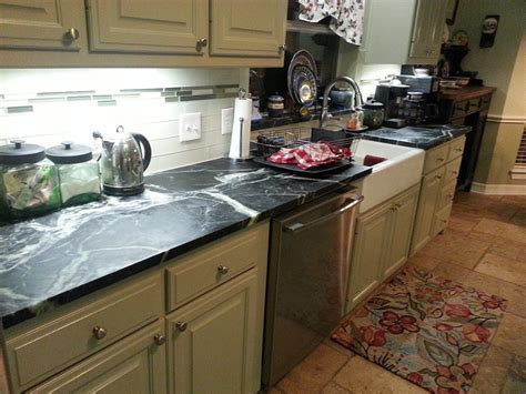 Soapstone Versus Granite countertops granite vs quartz vs soapstone overlay color installed kitchens