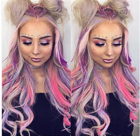 hairstyles for rave party 71 best rave hairstyles images on pinterest make up