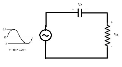 coupling how does capacitor block dc when an ac signal is superimposed on top of it