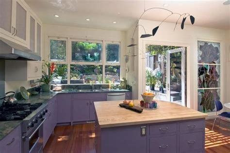 purple kitchen decorating ideas modern home decorating ideas blending purple color into creative interior design