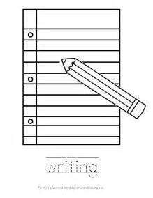 write in color kid color pages back to school