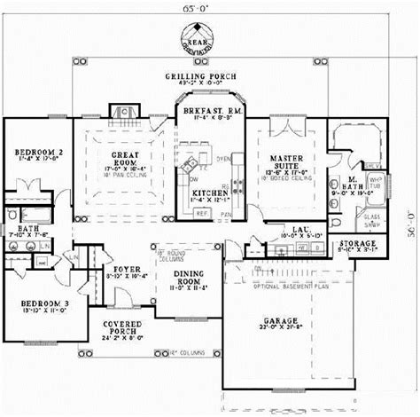reverse ranch house plans ranch style house plans plan 12 385