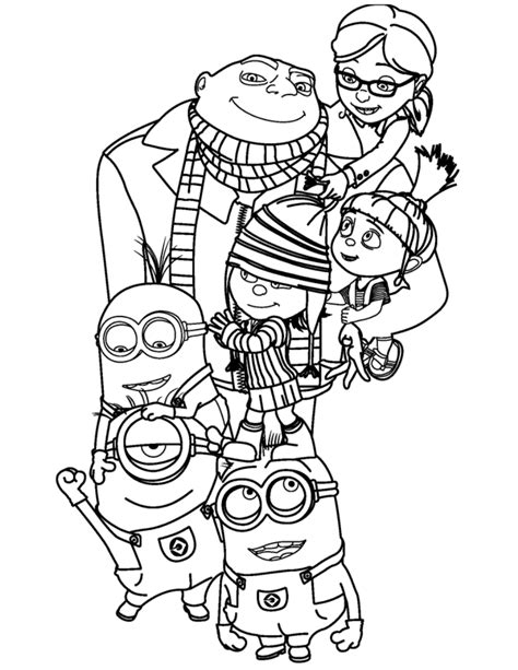 Minion Coloring Pages Best Coloring Pages For Kids Colouring In Printouts