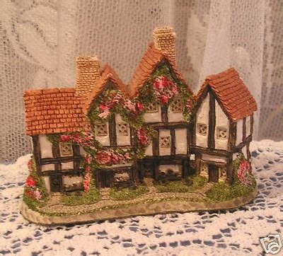 vintage david winter cottage apothecary shop w roses