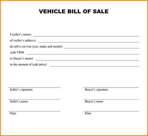 motor vehicle bill of sale template pdf 9 bill of sale template pdf wedding spreadsheet