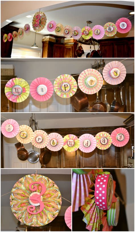 Wholesale Home Decorations diy paper rosette garland one stylish party