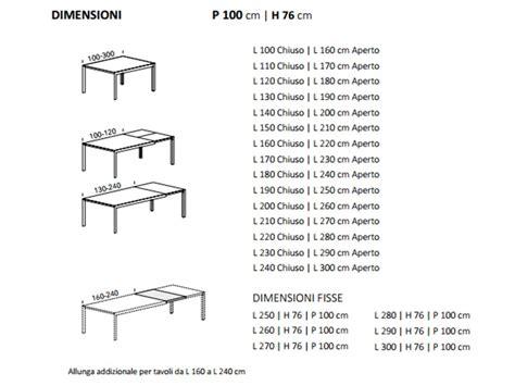 misure tavolo tavolo su misura allungabile finitura al cione ral
