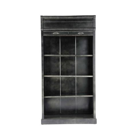 metal industrial bookcase in black w 100cm charlton