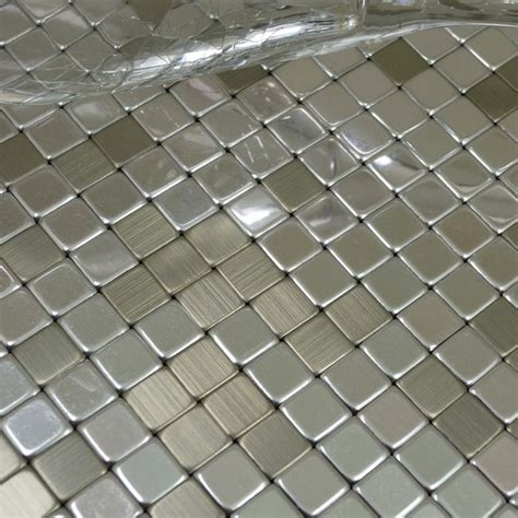 silver color adhesive aluminum composite panel mosaic tile