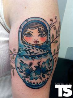 electric boogaloo tattoo russian doll by saigh