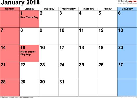 calendar templates printable january 2018 calendar templates webelator