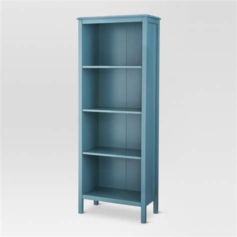 UPC 677446130136 Blue Bookcase French Country 4 Shelf Home Office Dorm Display Painted Wood