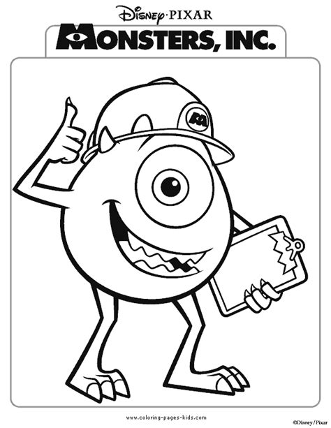 disney coloring pages monsters inc coloring pages monsters inc coloring home